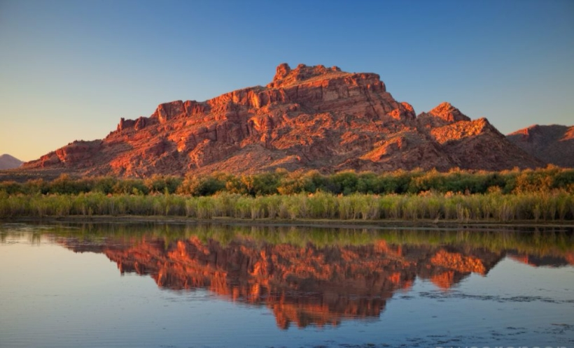 Red Mountain Reflection on the Salt River